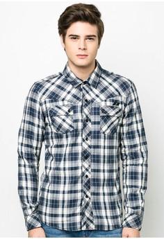 Checkered Button-Down T-shirt