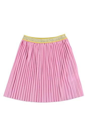 LC Waikiki pink Elastic Waist Pleated Girl Skirt 8863AKAF8339B2GS_1
