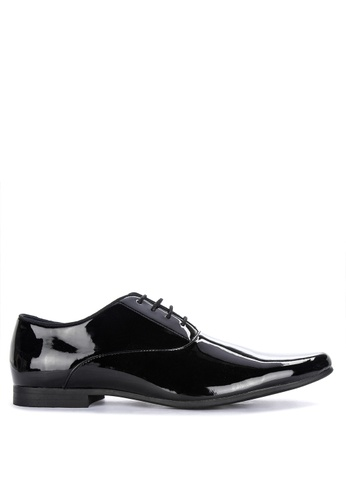 Burton Menswear London black Royston Derby Shoes FDB2ESH7F71759GS_1