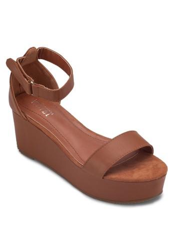 Victoesprit暢貨中心ria 厚底包跟涼鞋, 女鞋, 楔形涼鞋