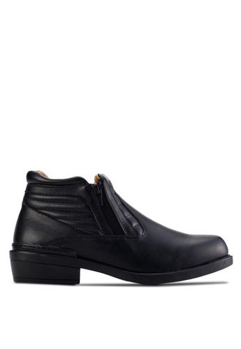 Louis Cuppers black Zip Detail Boots LO977SH01AUKMY_1