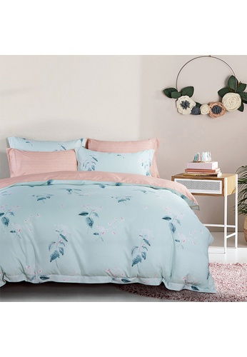 Epitex Epitex 1000TC HS1219 Hybrid Botanic Silk Printed Fitted Sheet Set 525B1HL3E1A73FGS_1
