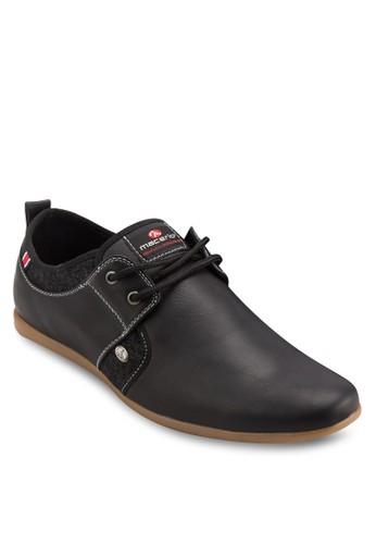 經典仿皮尖頭繫帶休閒鞋,esprit專櫃 鞋, 休閒鞋