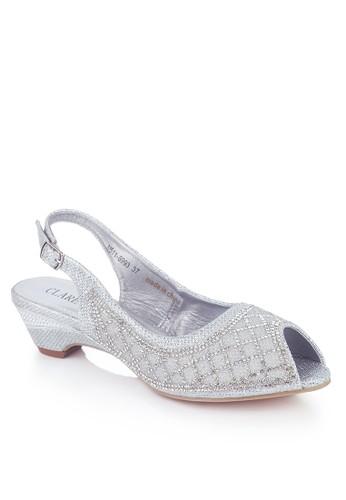 Clarette Heels Party Danette Silver