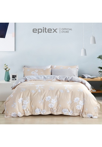 Epitex Epitex 1000TC HS1233 Hybrid Botanic Silk Printed Fitted Sheet Set - Bedsheet (w/o quilt cover) A2413HLCDA23AAGS_1