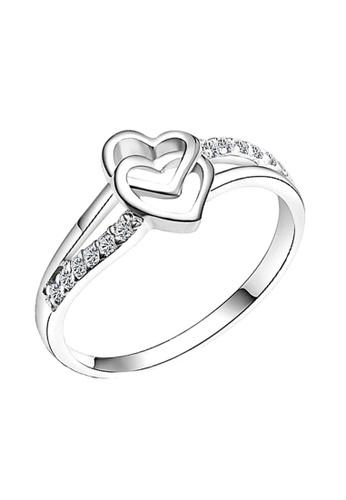 Elfi silver Elfi 925 Genuine Silver Engagement Ring P18. Lucky in Love EL186AC34DGNMY_1