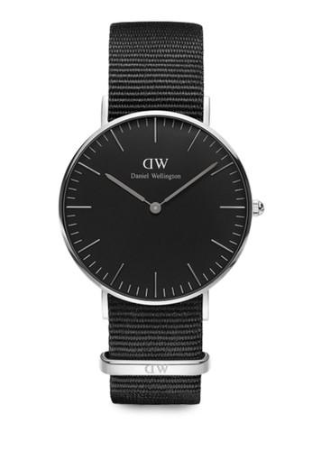 Cornwall 36mm esprit旗艦店經典黑錶盤 NATO 手錶, 錶類, 飾品配件