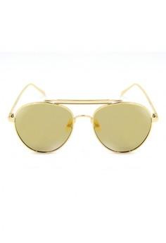 Skylar Retro Aviator Top Metal Sunglasses 8014-1612-Y