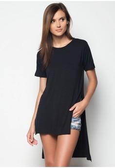 Short Sleeve Longback Blouse