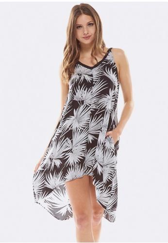 Deshabille black Palm Dress 28B94AA9963160GS_1