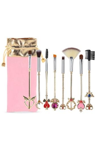 Mythss gold Magic Wand Brush Set - 8 Pieces Set 74812BE01ED995GS_1