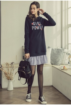 6dac7fe0d3e 60% OFF Eyescream Layered Oversized Hoodie Dress RM 189.00 NOW RM 75.90  Sizes S M L