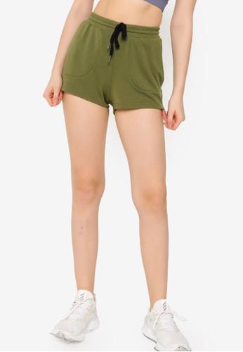 ZALORA ACTIVE green Jogger Drawstring Shorts 2E896AA84A0477GS_1