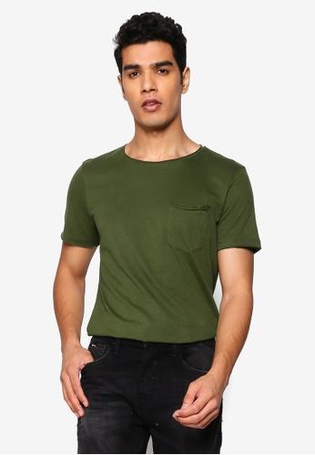 BLEND green Noel Pocket Tee FBB8FAA6909F8FGS_1