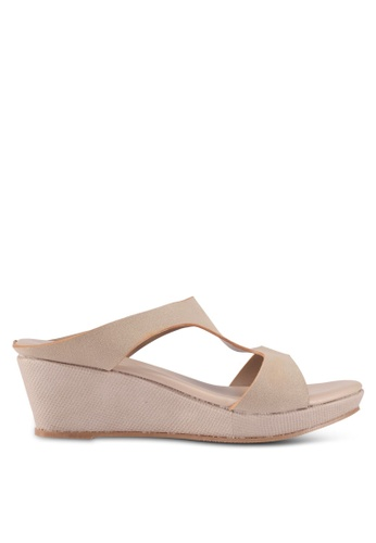 Bata 米褐色 Bata Wedge Sandals 483DDSHEA7C3FEGS_1