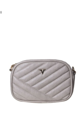 Verchini grey Verchini Quilted Patent Crossbody Bag 1580DAC42C29F0GS_1