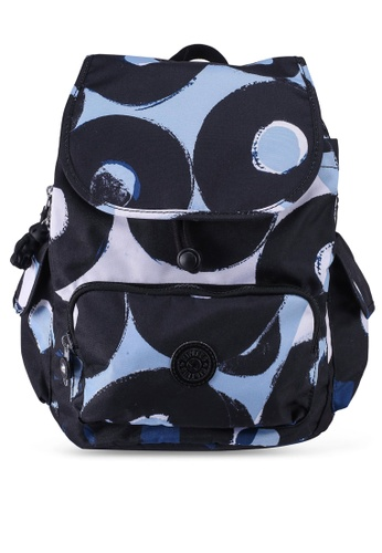 Kipling black and blue and multi City Pack S Oprint Backpack CAF99AC78F9025GS_1