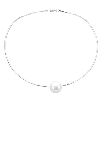 Red's Revenge silver Pearly Orb Choker Necklace 5F3ADAC0175D5FGS_1