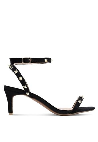 Something Borrowed black Studded Heels 42C61SHAD286C7GS_1