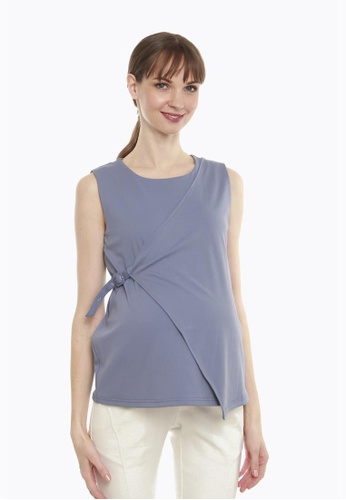 Bove by Spring Maternity blue Cylia Top 840AEAACBFD8B3GS_1