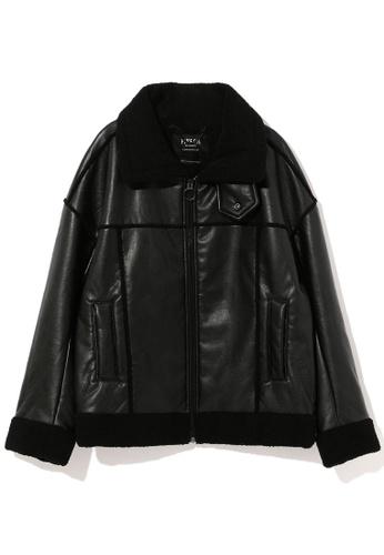 Fivecm black Faux fur shearling jacket 858FEAA0616567GS_1