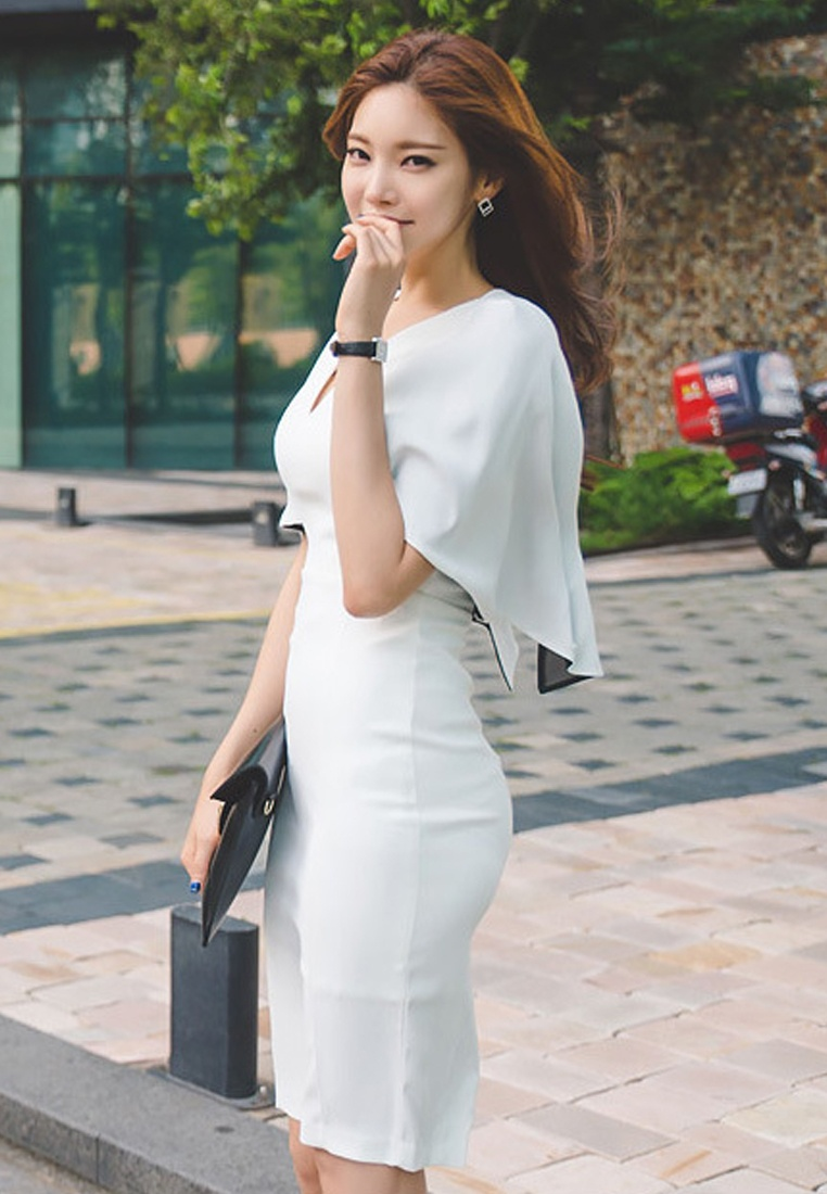 Work Sunnydaysweety UA040315 S S Choice Elegant Lady White 2017 Polyester white Dress A04R64