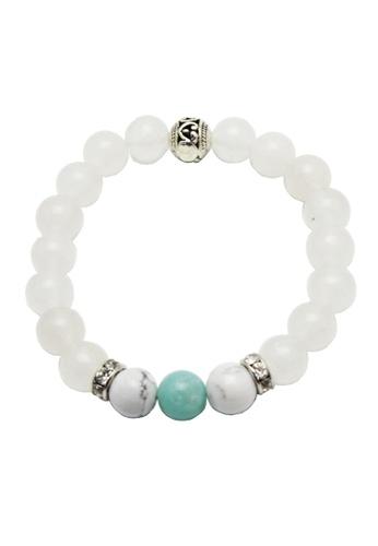 Memento Collection white Ladies White Jade Bracelet with Amazonite ME060AC64UBVMY_1