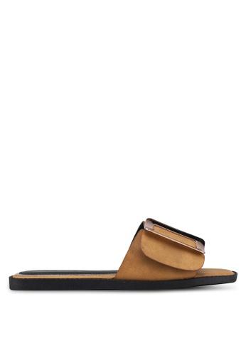 Something Borrowed brown Metal Embellishment Sandals FB6E0SH59BD774GS_1