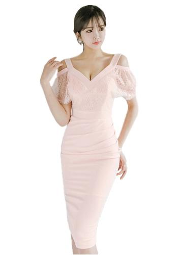 Sunnydaysweety pink 2017 Summer New Dress With Cutout back UA071112 SU219AA69QVESG_1