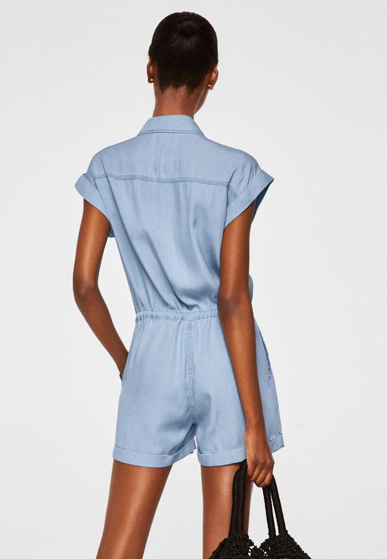 Blue Jumpsuit Denim Light Open Mango TqXI7I