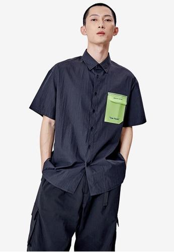URBAN REVIVO black Casual Shirt 484A1AA1AE320CGS_1