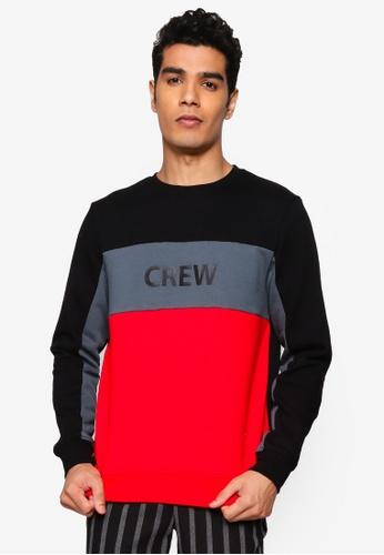 BLEND black Color Block Sweatshirt 83425AA9C4470FGS_1