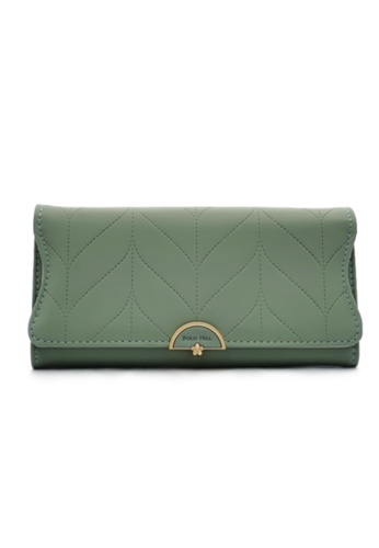 Polo Hill grey Polo Hill Ladies Leaf Inspired Stitching Long Wallet 2DE1AAC528622BGS_1