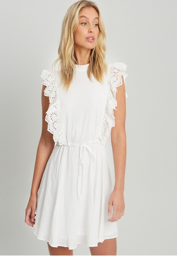 The Fated white Elsie Dress 1FD83AAB406E3BGS_1