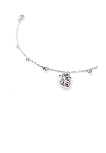 Glamorousky purple Butterfly Anklet with Purple Austrian Element Crystal and CZ 8D3D0AC7C35509GS_1
