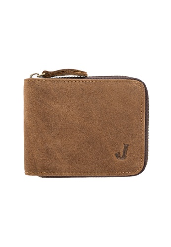 Jack Studio brown Jack Studio Men's RFID Zip Around Center Flap Cards Wallet 90490ACCD4181CGS_1