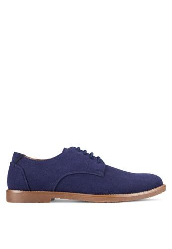 UniqTee blue Suede Lace Up Derby Shoes UN097SH0RFVJMY_1