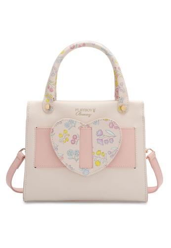 PLAYBOY BUNNY white Women's Hand Bag / Top Handle Bag / Shoulder Bag 730BDAC06633F4GS_1