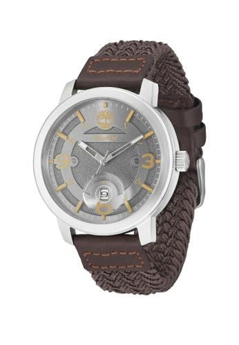 Timberland brown Timberland TBL.15017JS/13 PEMBROKE Men Woven Leather Watch 6FFB9AC292D171GS_1