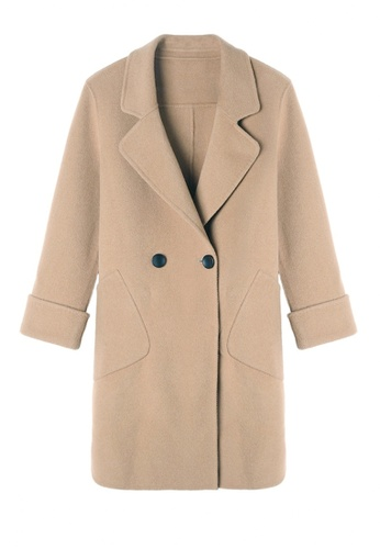 Twenty Eight Shoes brown VANSA Solid Color Double-sided Wool Coat  VCW-C1713 5A5BFAA91BE2DFGS_1