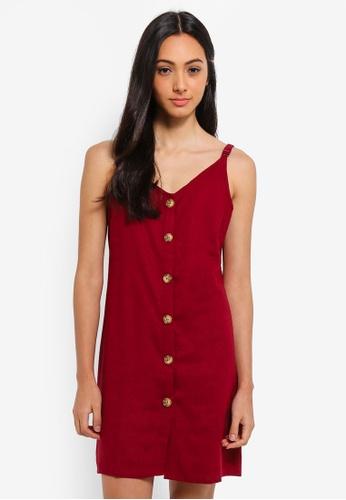 Cotton On red Woven Margot Slip Dress EE922AA6091182GS_1