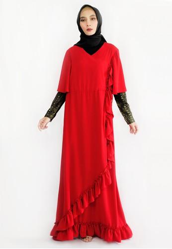 INA PRIYONO red NAIZA Red Longdress by Ina Priyono 68295AA884AA78GS_1