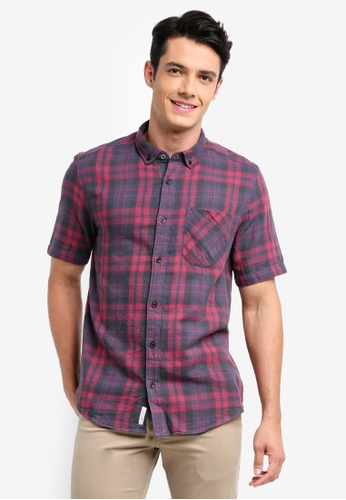 River Island 紅色 Check Shirt A61B5AADFE5309GS_1