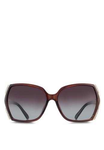 水晶飾矩形框太陽眼鏡、 飾品配件、 飾品配件NUVEAU水晶飾矩形框太陽眼鏡最新折價