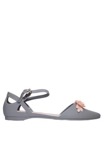 Twenty Eight Shoes grey 3D Flora Ankle Strap Jelly Flats VR5132 C9433SH22E6B18GS_1