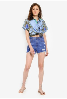 88ca2db8 River Island Carrie Chain Boxy Shirt S$ 54.90. Sizes XS S M L
