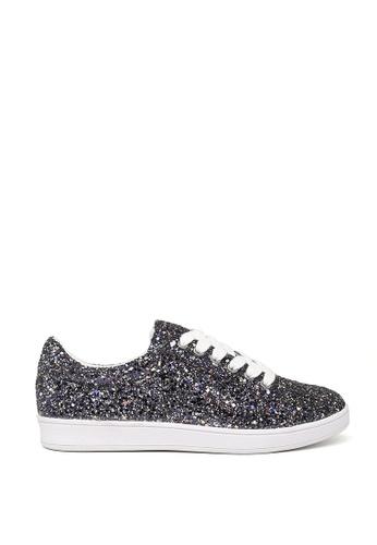 London Rag black Black Glitter Lace up Sneakers SH1500 AB33FSHC6A0AF9GS_1