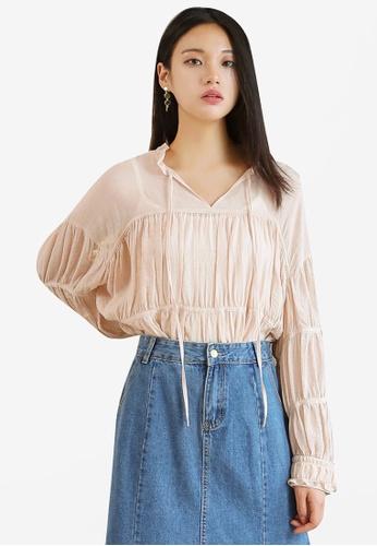 da82a0fc68da3d Shop NAIN Shirring Blouse Online on ZALORA Philippines