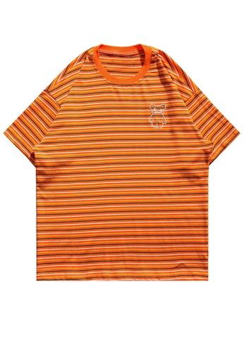 Twenty Eight Shoes Contrast Stripe Printed Short T-shirt HH1089 AB5BBAA87FC26FGS_1
