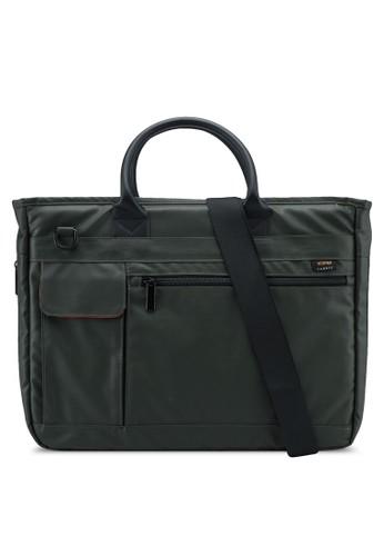 Bagstationz green Premium Nylon 2-Way Laptop Bag 5B947AC97ED27AGS_1